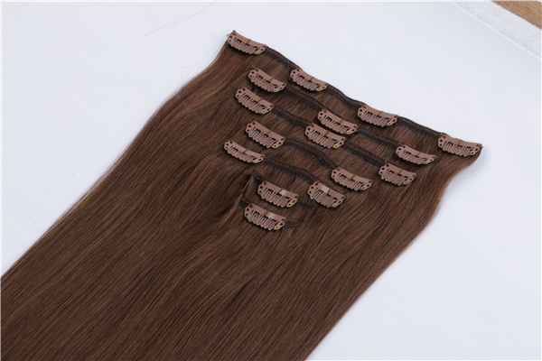 Clip in Hair Extensions Double Weft  Remy Human Hair Grade  Thick Long Soft Silky Straight YL339