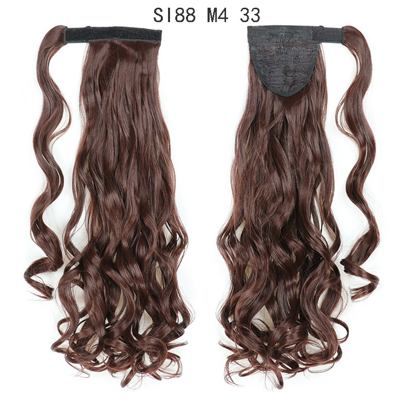 Ponytail Hairpiece With String and Clip Body Wave WK124