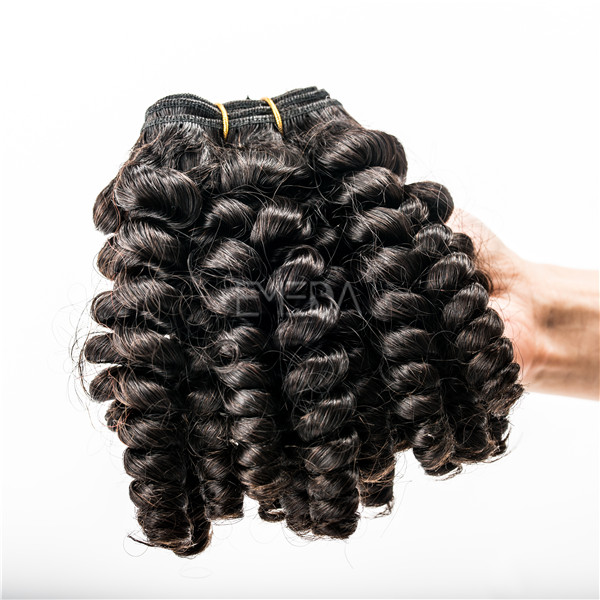 Grade 5A egg curly virgin remy cuticle human hair extensions WK205