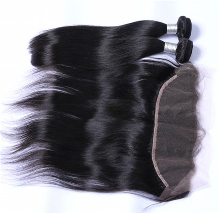 Best Lace Frontals 8-24 Inch Hair Natural Black 13*4 Frontal Brazilian Hair  LM415
