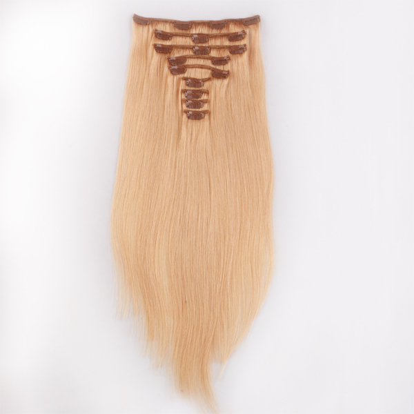 100 Human hair clip in extensions XS043