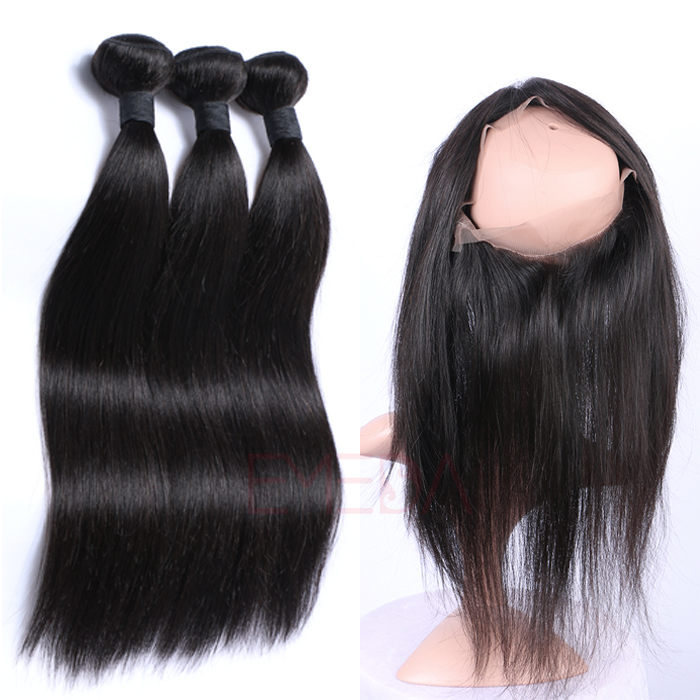 EMEDA Virgin  Malaysian hair Weft Human silk Straight Hair Extensions  HW034