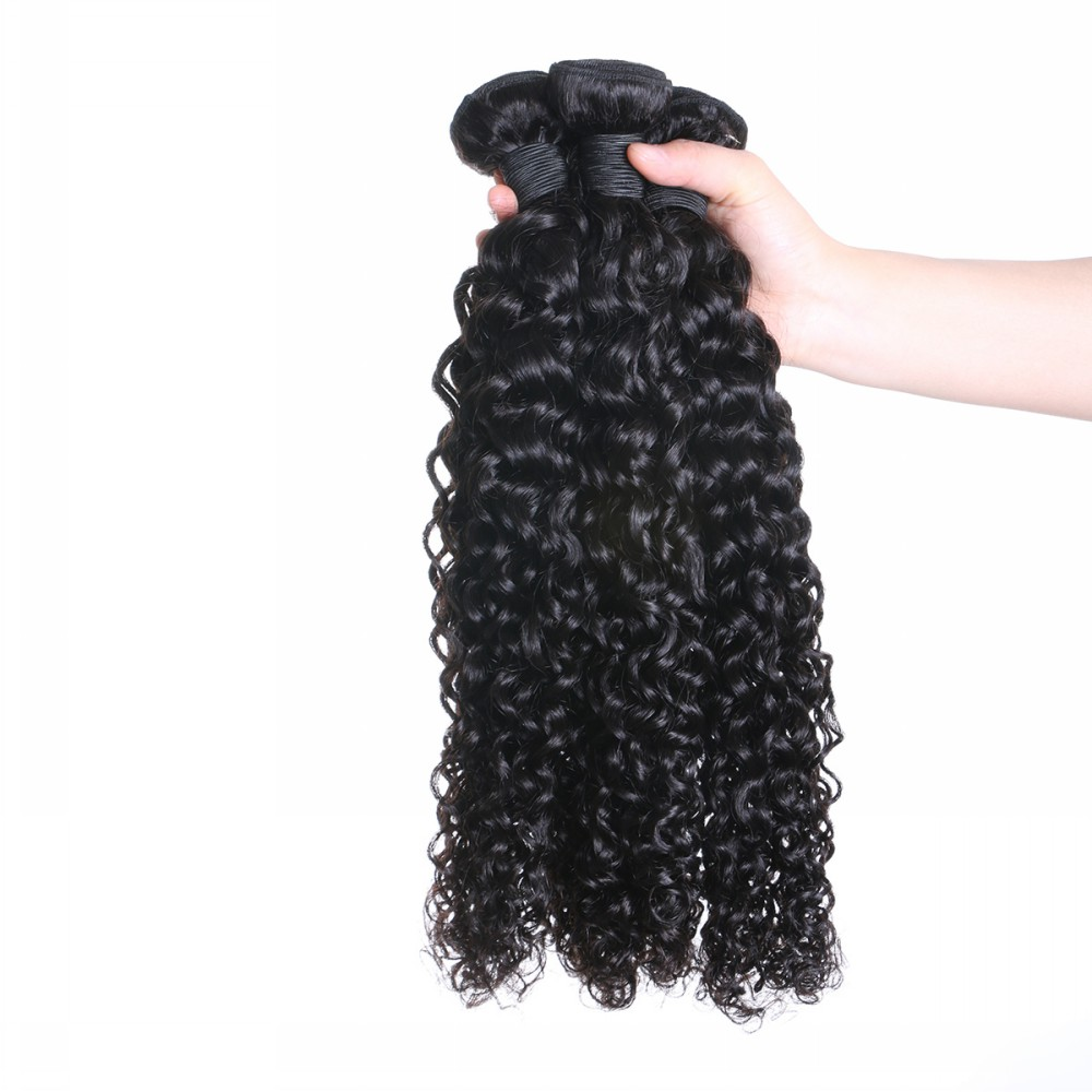 Raw unprocessed Virgin Indian hair ,Virgin indian hair Deep curly hair bundles YL120