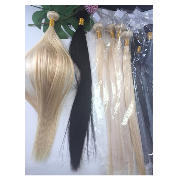Raw  hair extension bundles straight blonde natural black double drawn YL371