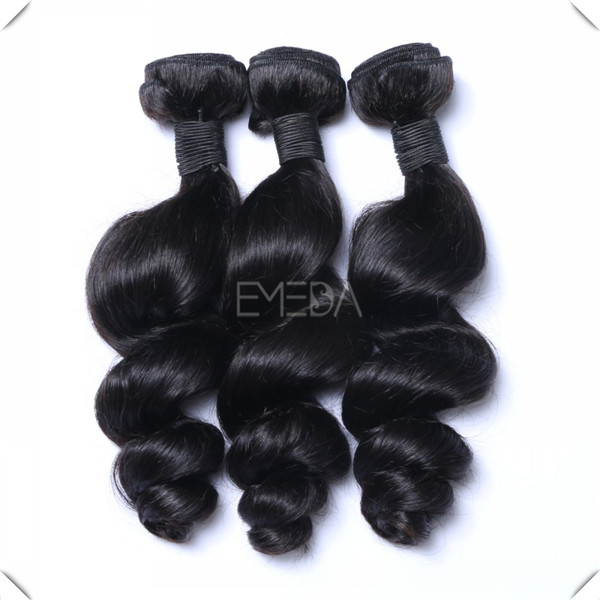 Long hair extensions cheap Indian loose wave hair weft WJ042