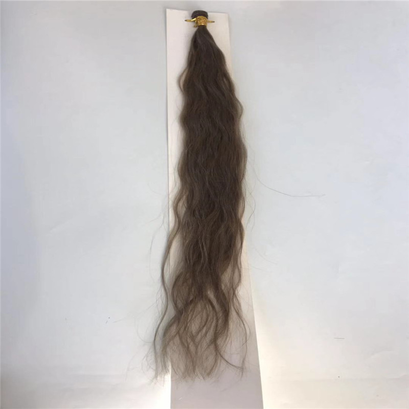 Natural Wave Hand Tied Hair Extension Light Brown with Thick End WK080