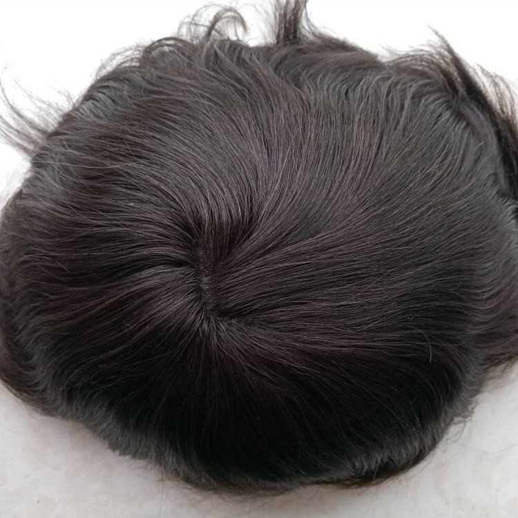 Human Hair Material and  Straight Wave Style toupees for men YL147