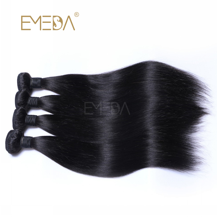 Peruvian Virgin Straight Hair Bundles Silky Smooth Cuticle Aligned Factory Supply Weave  LM406