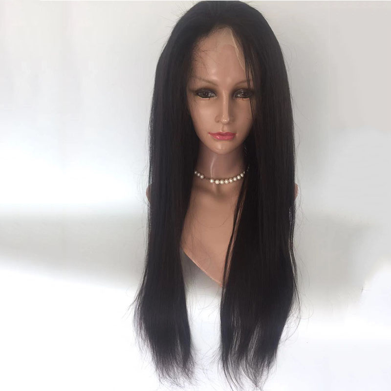 Human hair glueless full lace wig pre pluked wig, long straight wig with baby hair for women YL297