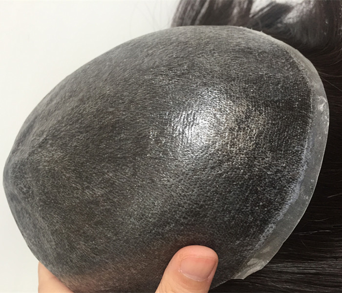 Adhesive Toupee European Remy Hair Full Injection Silky   Straight Men Women Replacement Systems  Stock YL377