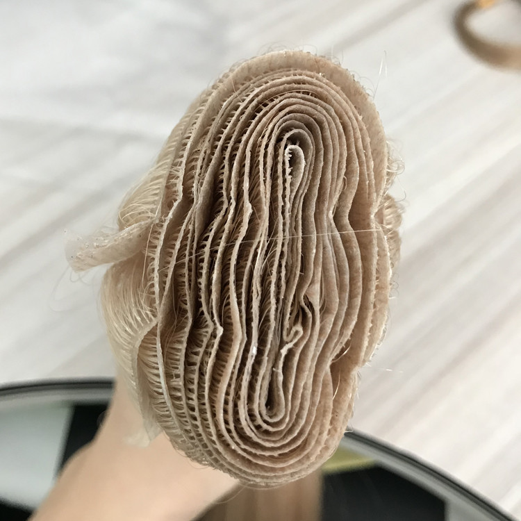 Hand injected to clear thin skin PU weft tied seamless hair extensions YJ 309