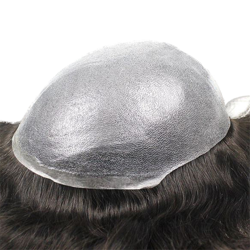 Thin Skin PU Toupee 6 inch with Different Size of Base WK049