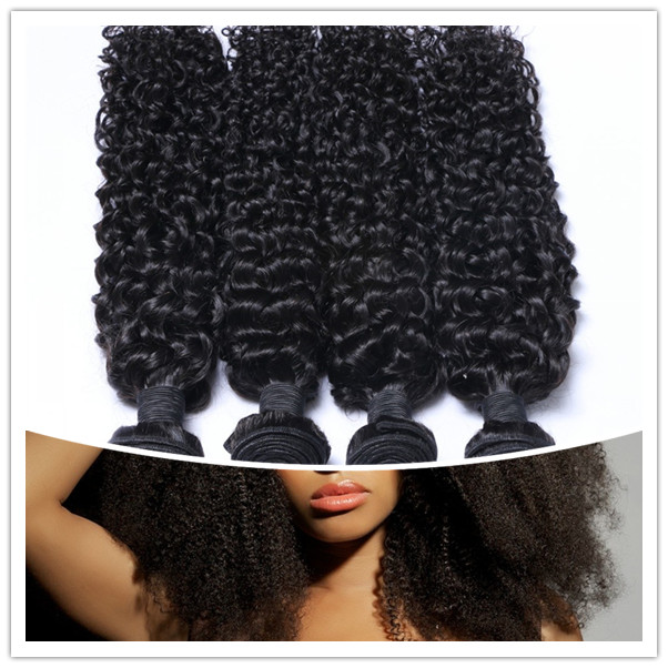 Cheap Virgin Afro Kinky Wave Hair Bundles 100% Mink Cuticle Aligned YL149