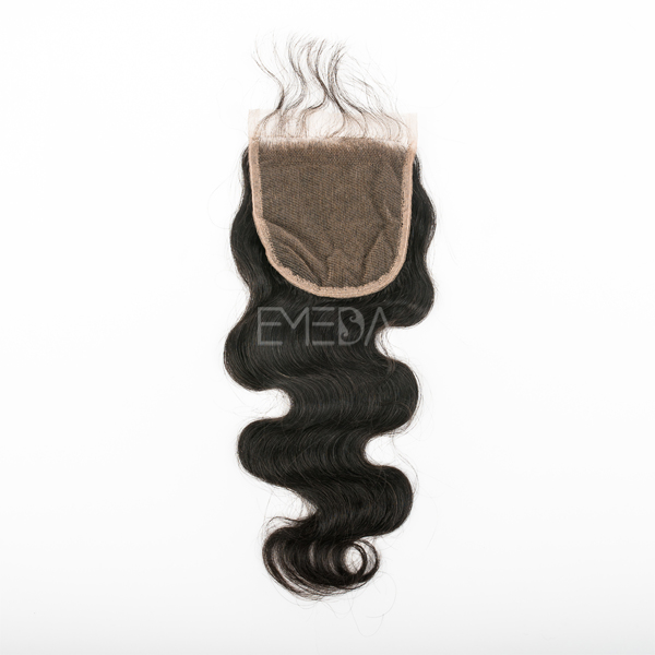 EMEDA Free Style Brazilian Hair Lace Closure body wave with Baby hair HW053
