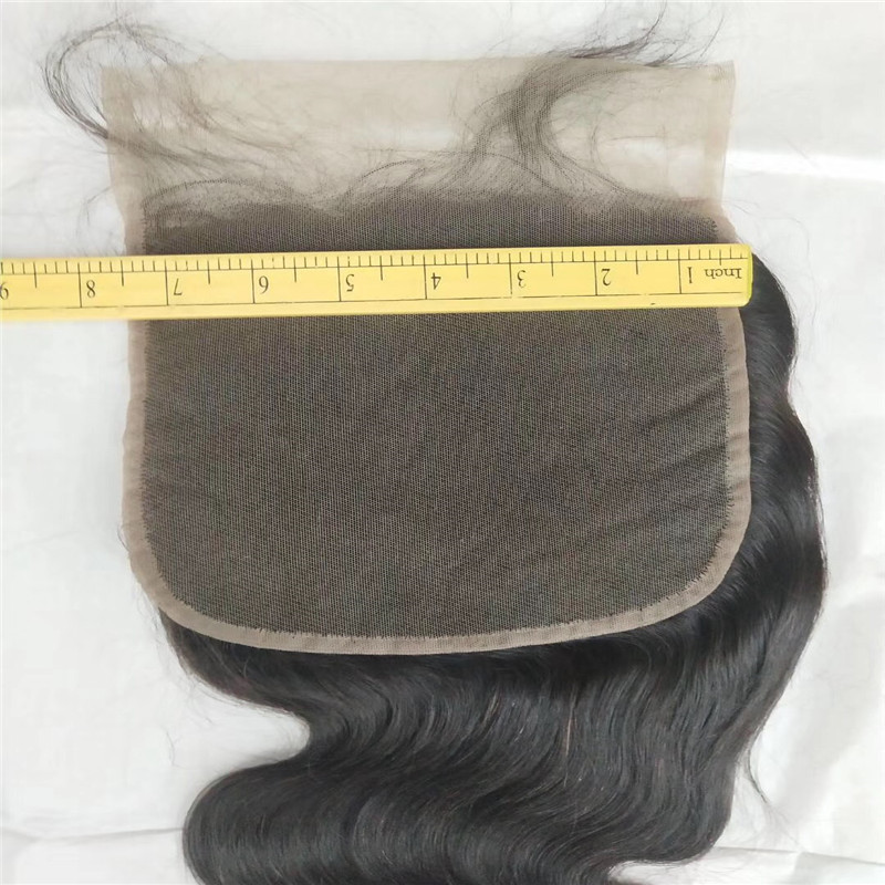 Lace Closure 6x6 and 7x7 Lace Natural Black Various Texture WK037