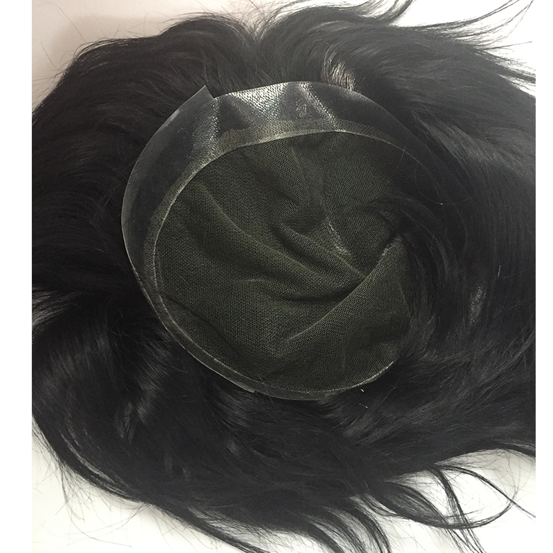 Australia base men toupees human hair systerm swiss lace with pu around YL439