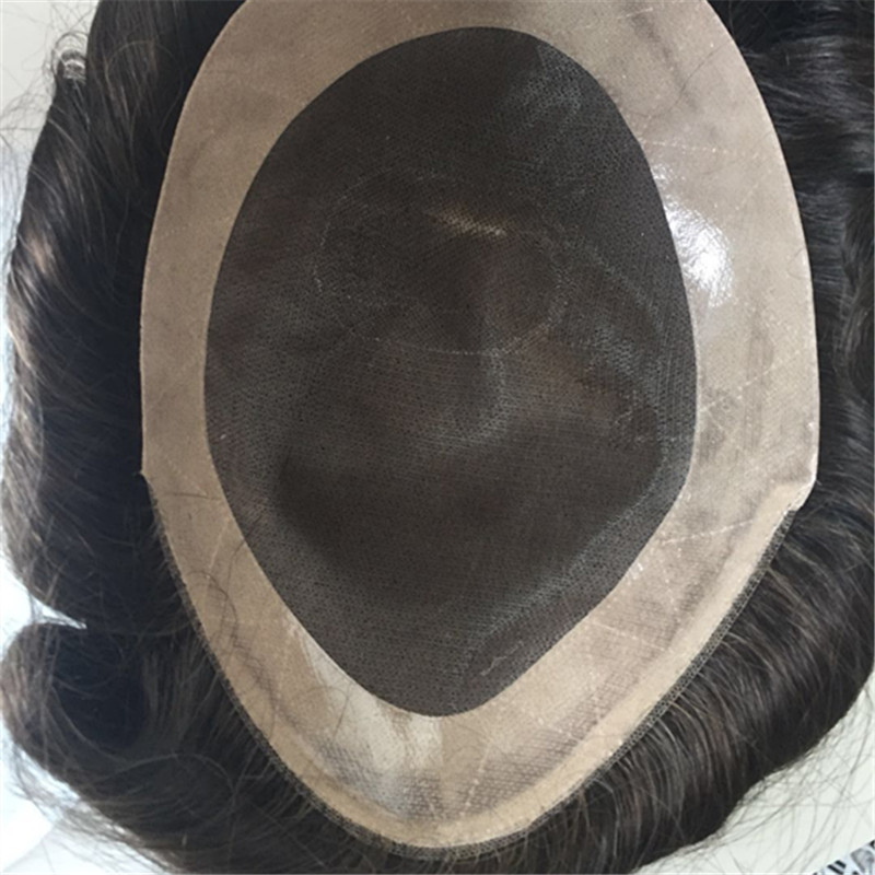 Mono toupees fine mono  toupee for men  soft indian hair YL366