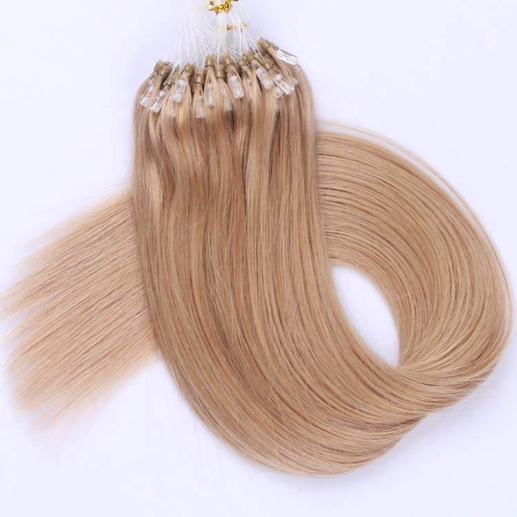 Best Brazilian micro ring loop hair extensions supplies virgin human hair wholesale YJ324