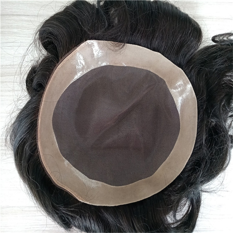 Mono Base with NPU around best quality Toupee long life span WK063