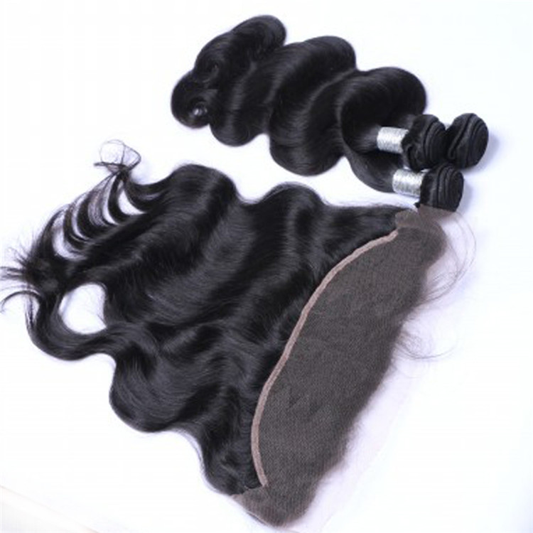 Factory price virgin human hair extensions straight lace frontal YL217