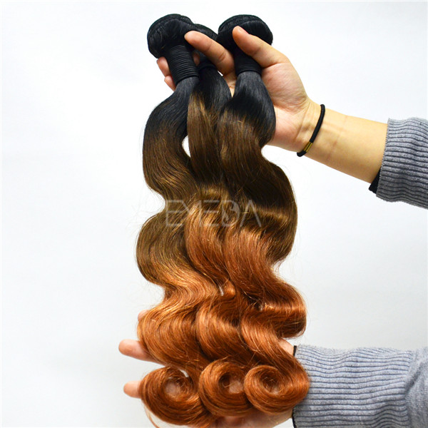 Top grade colored body wave hair hair extensions Brazilian body wave WJ017