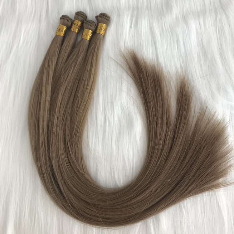 Best one donor hair hand tied weft stick hair exte...</>