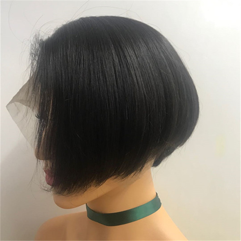 lace front wig pixie cut style wholesale virgin hair factory in china WK147