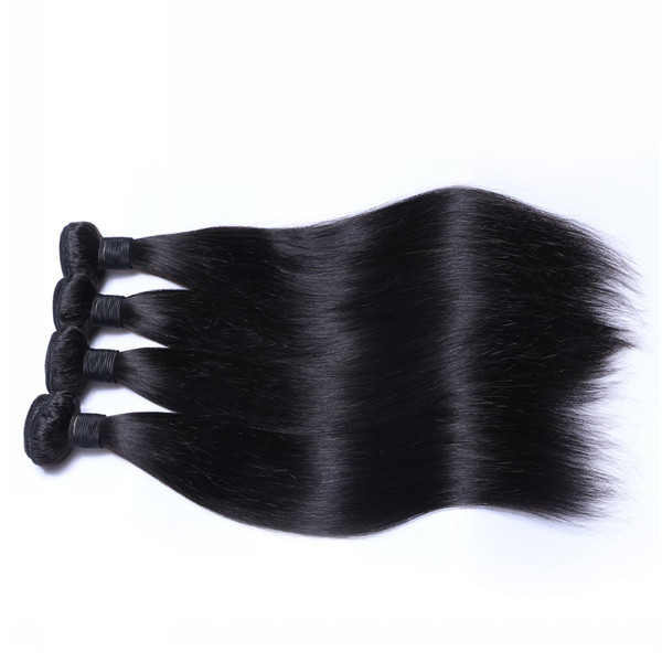 Cuticle Aligned Human Hair Weft Brazilian Unprocessed Straight Hair Weave Natural Bundles  LM263