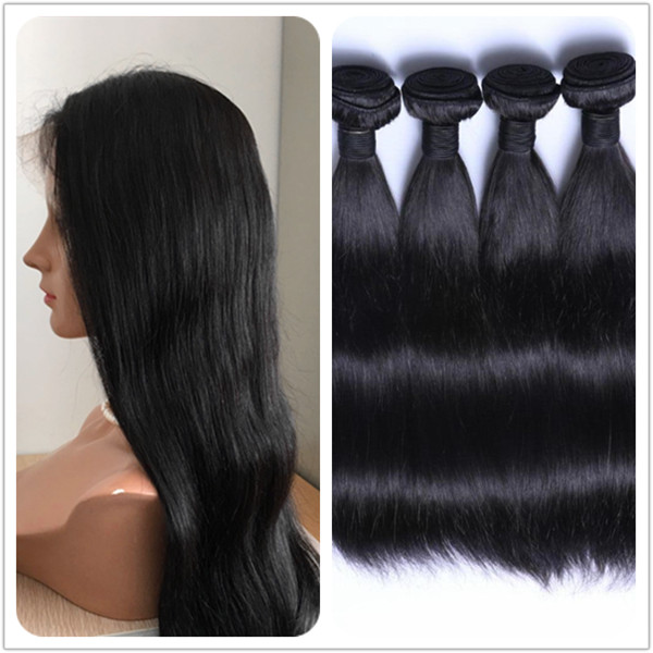 Hairweaving hair extension full cuticlenvirgin no chemical Indian long hair bundles body wave style YL068
