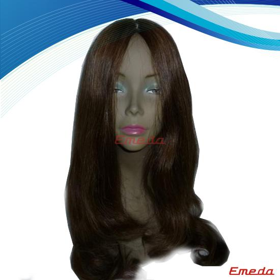 Human hair glueless lace wig