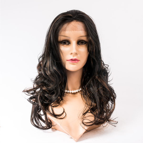 Heat-resistant synthetic lace wig  LJ78