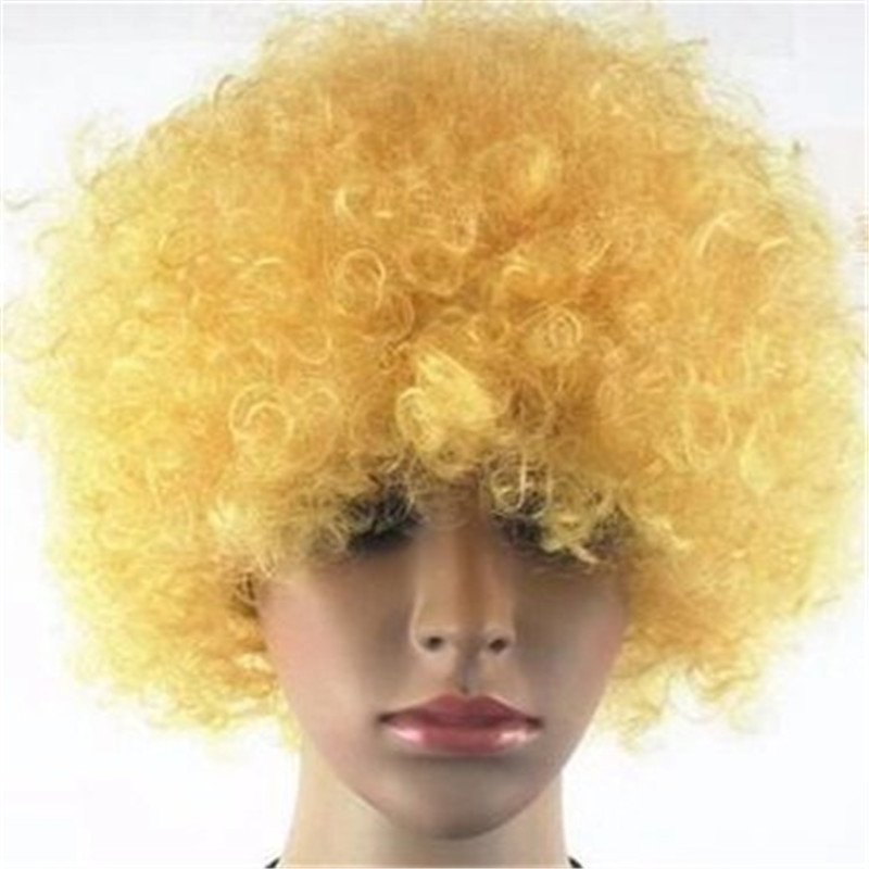 Synthetic Wig with many colors used for Soccer fan...</>