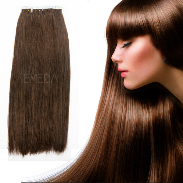Grade 10A virgin brazilian tape in hair extensions YJ