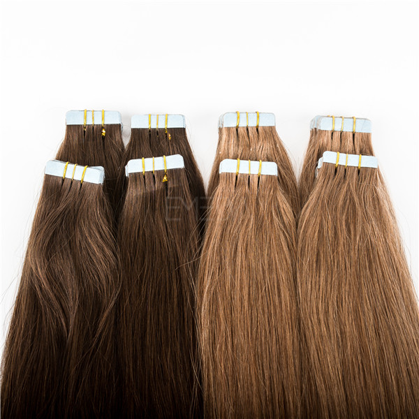 Extensions Human Hair Blonde Color Tape in Human Hair YL380