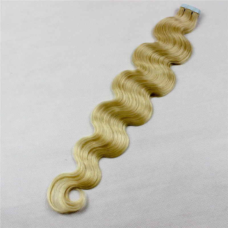 High quality virgin straight human tape in hair extension WK070