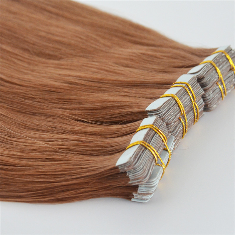 High quality virgin straight human tape in hair extension WK069