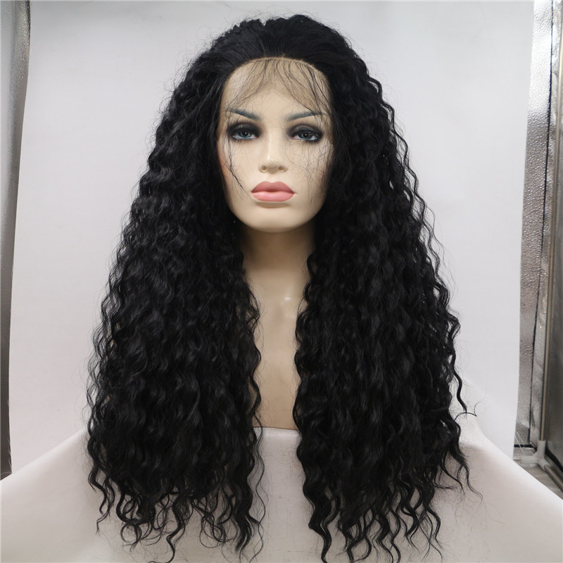 Prepluked Hairline Lace Front Wig Remy Hair Water Wave China Manufacturer WK190