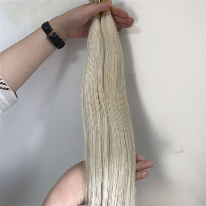 Snow White Plantinum Color Hair Bulk for Making Wig WK138