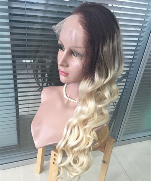 Blonde hair wig lace frontal and full lace wig Ombre color YL106