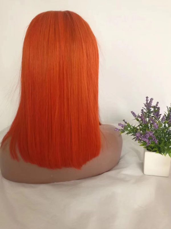 100 human hair pink color wig for black women YL245