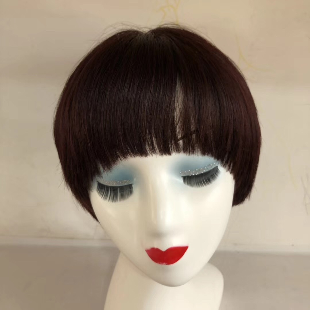 Short Hair Wig Bob Style Red Front Lace or Full La...</>