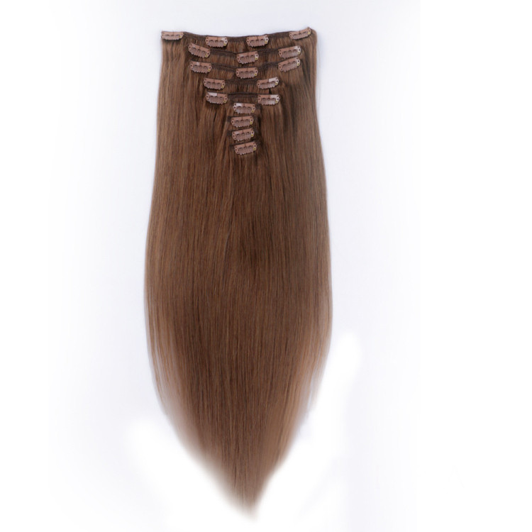 Brazilian best weave hair piece extensions clip SJ00152